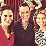 """Lori: """"Guest starring on The Neighbors this week. Having a wonderful time working with @scottweinger (Steve from Full House) and Jami Gertz. Two of my dear friends."""""""