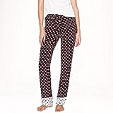When you're lounging around Christmas morning, give Mom something cute to wear with these J.Crew Silk Pajama Pants in colorblock dot ($128).