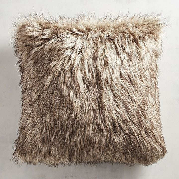 Pier 1 Imports Faux Fur Wolf Pillow