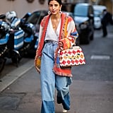 Give wide-leg jeans the bohemian treatment with a printed robe coat