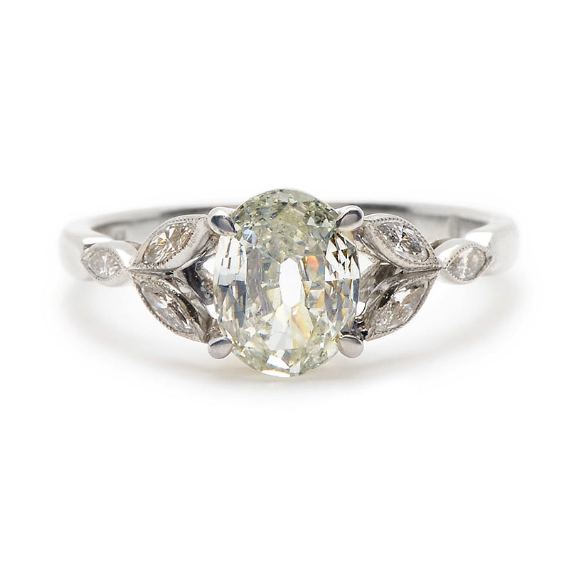 Oval-shaped antique diamond engagement ring ($10,400)