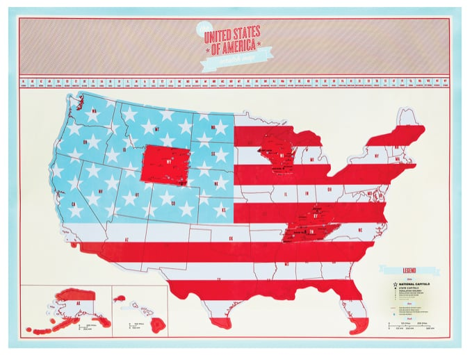 USA Scratch Map ($24)
