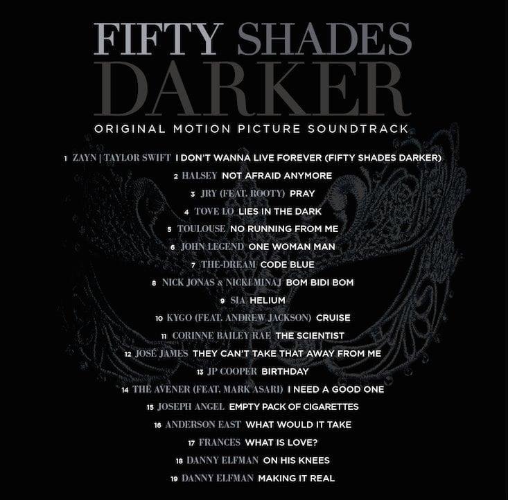 Resultado de imagem para trilha sonora fifty shades darker