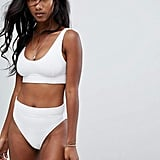 Zulu And Zephyr Zulu & Zephyr Etheral White Bralette Bikini Top