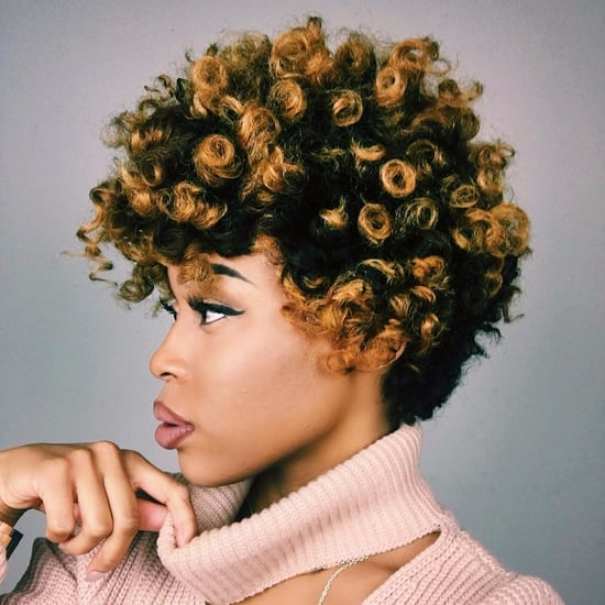 Bleached and Coloured Afro Hairstyles