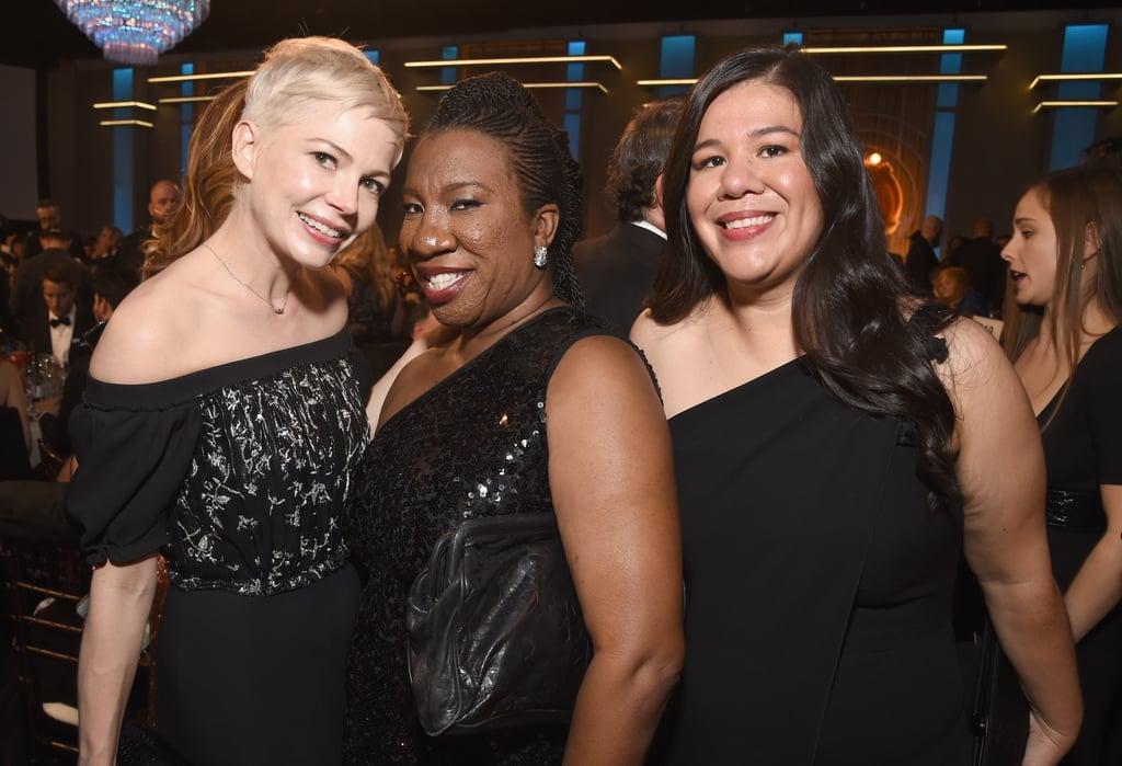 Pictured: Michelle Williams, Tarana Burke, and Monica Ramirez