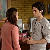 Leighton Meester as Blair Waldorf and Penn Badgley as Dan Humphrey on Gossip Girl.  Photo courtesy of The CW