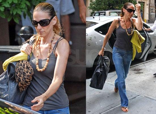 Photos of Sarah Jessica Parker Leaving Her Manhattan Townhouse