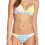 J.Crew Colorblock Gingham French Bikini Top and Bottom
