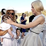 Jaime King was baby crazy for Rachel Zoe's little man, Skyler.