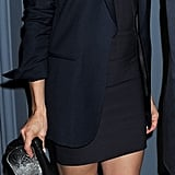 Cameron Diaz wore black to the cocktail reception.