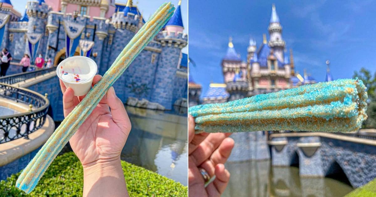 "Disney's New ""Celebration Churro"" Is Baby Blue and Tastes Like Birthday Cake"