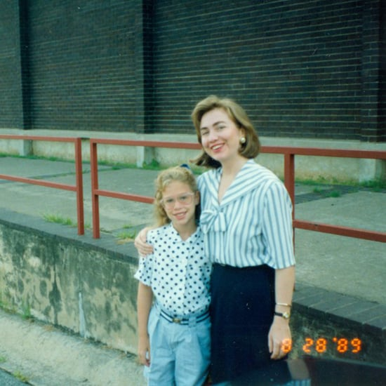 Young Chelsea Clinton With Hillary Clinton (Video)