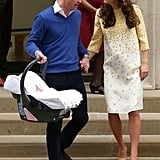 He carried baby Charlotte out of the hospital, and Kate couldn't look more in love.
