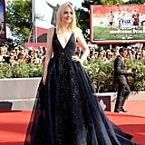Dakota Fanning glittered in a dress from Elie Saab's Fall 2013 Couture collection and rings by Cathy Waterman at the premiere of Night Moves.