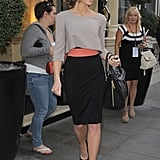 Kate Beckinsale attended a private screening of Total Recall in London.