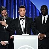 Brad Pitt gave an acceptance speech.
