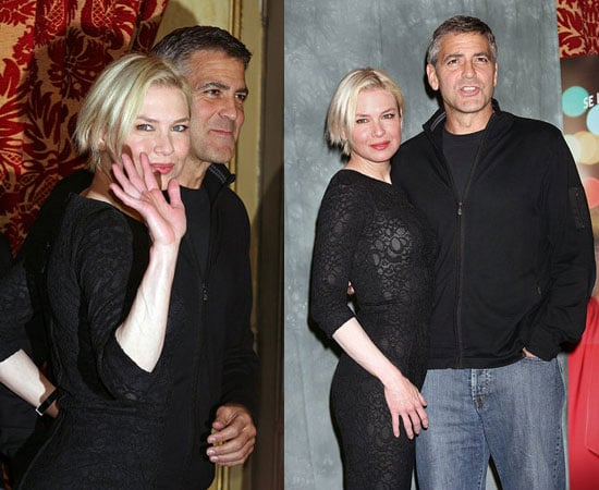 George Clooney and Renee Zellweger at a Leatherheads Photocall in Rome