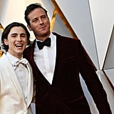 Timothée and Armie Hammer