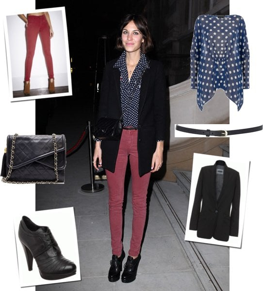 Copy Alexa Chung's Red Skinny Jeans Look at the GQ Style Party