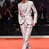 Timothée and Haider Ackermann made magic again with this belted suit at The King premiere during the Venice Film Festival.