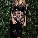 Sienna Miller stepped out in a floral frock for the event at Apsley House.