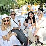 Rachel Zoe and Jaime King visited with Selma Blair, Jason Bleick, and their new baby, Arthur.