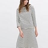 Zara striped black and white sweater with rhinestones ($80)