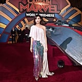 Gemma Chan's Ralph & Russo Look at Captain Marvel Premiere