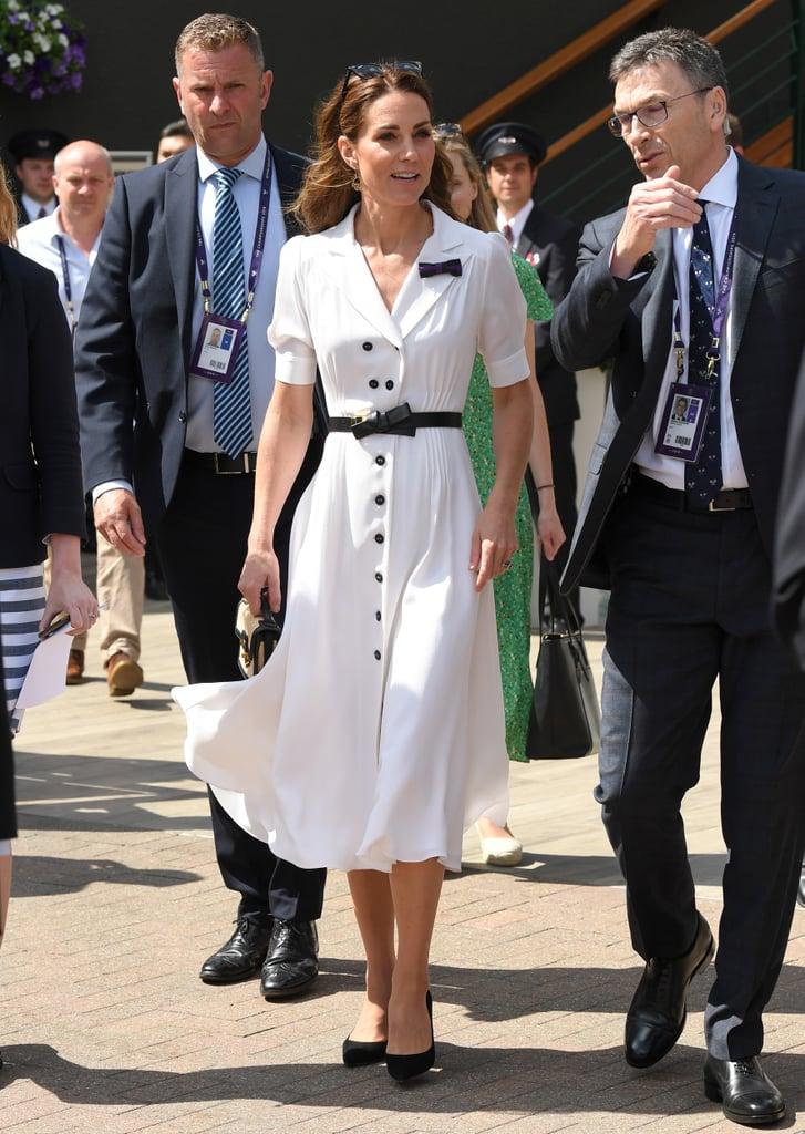 Kate Middleton's White Suzannah Dress at Wimbledon, July 2019