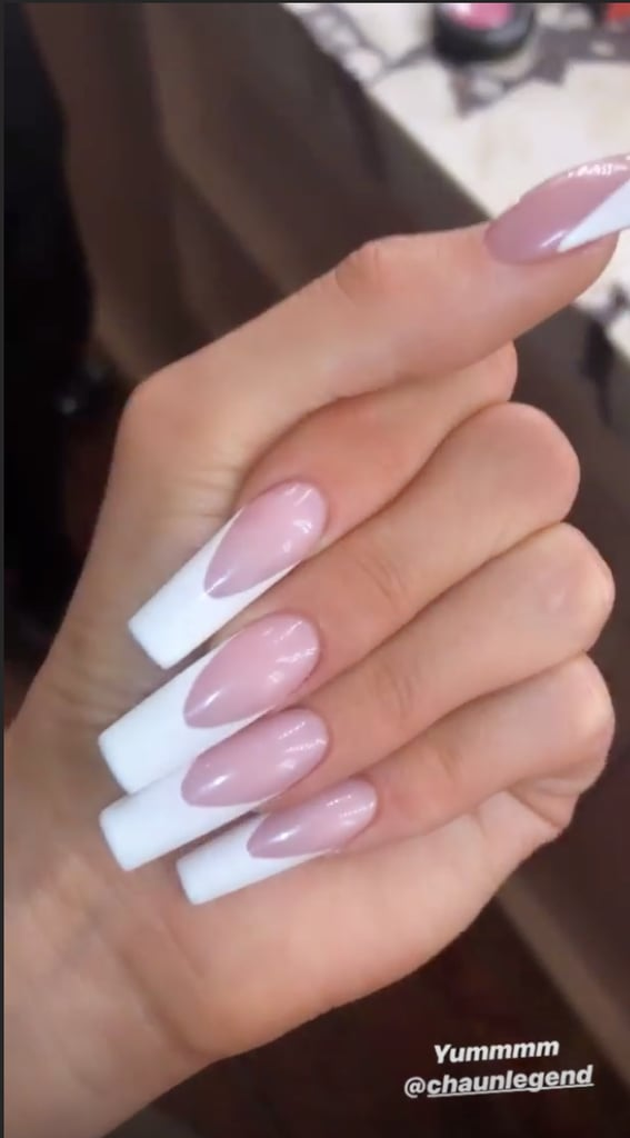 Kylie Jenner's V-Shaped French Manicure