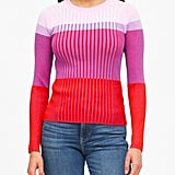 Colour-Blocked Sweater Top