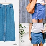 DIY Scalloped Denim Skirt