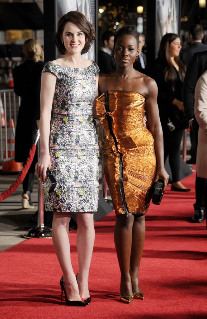 Michelle Dockery and Lupita Nyong'o premiered Non-Stop in LA on Monday.