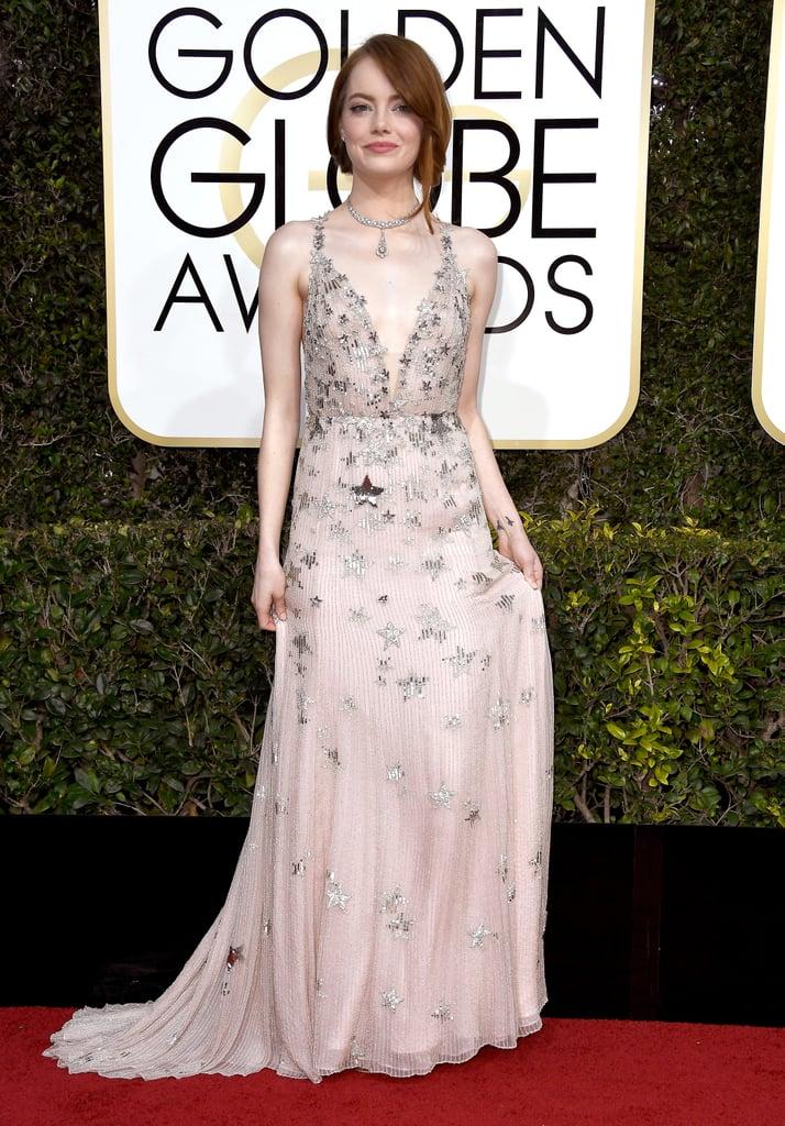 Emma Stone's Valentino Dress at Golden Globe Awards 2017 ...  Emma Stone Golden Globes