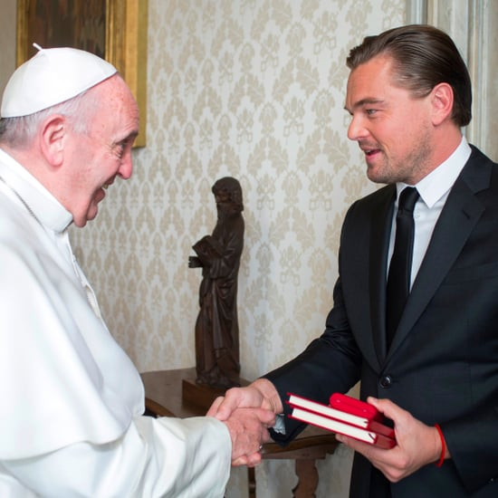 Leonardo DiCaprio Speaking Italian to Pope Francis Video