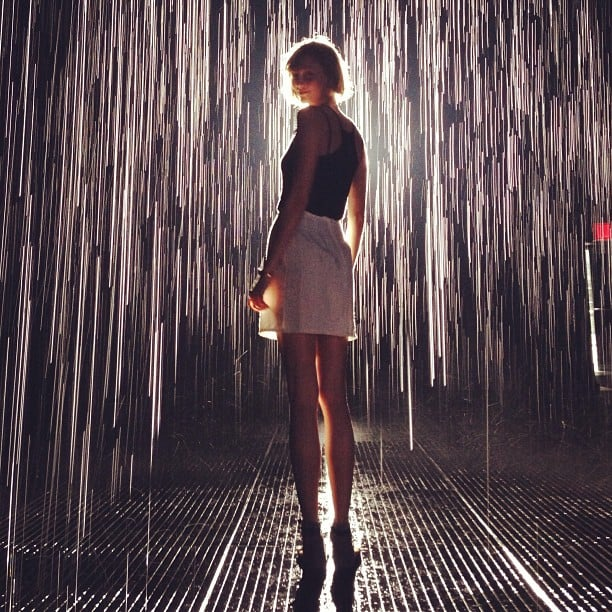 Karlie Kloss shared this gorgeous snap while visiting the MOMA's Rain Room. Source: Instagram user karliekloss