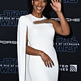 Naomi Ackie at the Star Wars: The Rise of Skywalker Premiere in LA