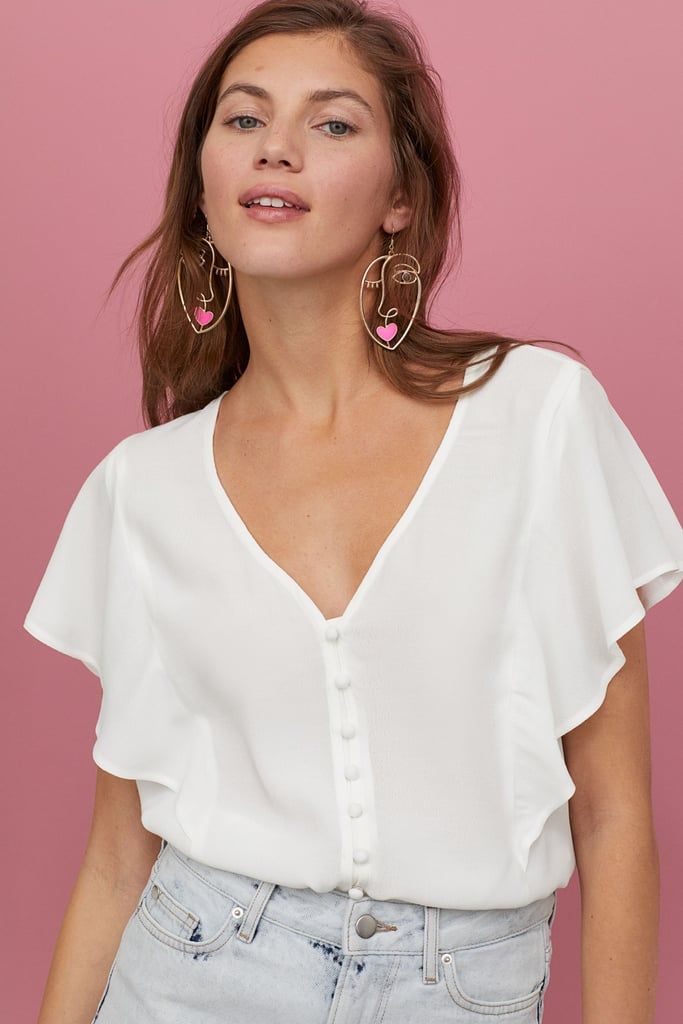 H&M Butterfly-Sleeved Blouse