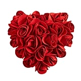 Red Roses Heart Pillow