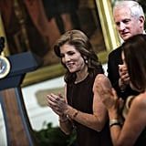 Caroline Kennedy clapped during the White House portion of the Kennedy Center Honors.
