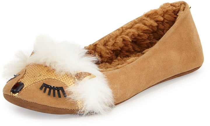 Kate Spade New York Salena Fox-Face Sequin Slipper, Honey ($98)