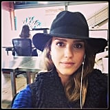 Jessica Alba snapped an office selfie. Source: Instagram user jessicaalba