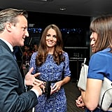 Kate Middleton wore the blue Bella dress by Whistles.