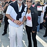 Halle Berry and Andy Garcia posed for a photo.