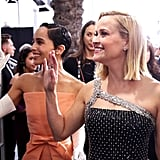 Zoë Kravitz and Reese Witherspoon at the 2020 SAG Awards