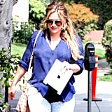 Hilary Duff stepped out post baby.