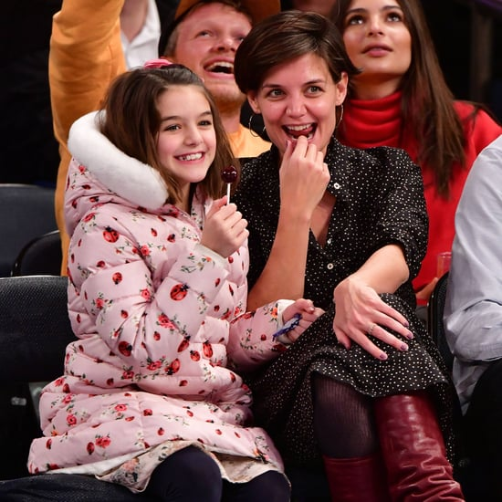 Katie Holmes and Suri Cruise at Knicks Game December 2017