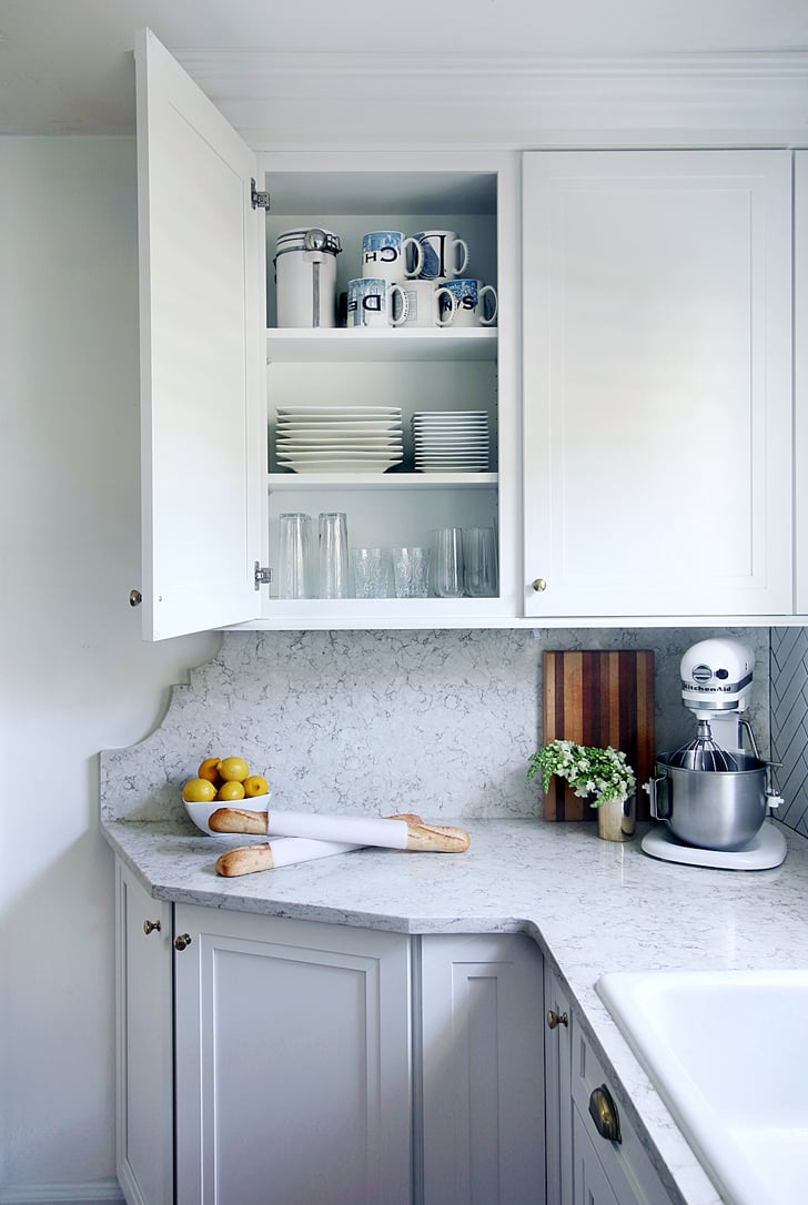 The Cabinet Counter Addition Turned A Small And Awkward Wall Space Small Kitchen Makeover With