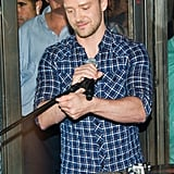 Justin Timberlake about to sing at Southern Hospitality.